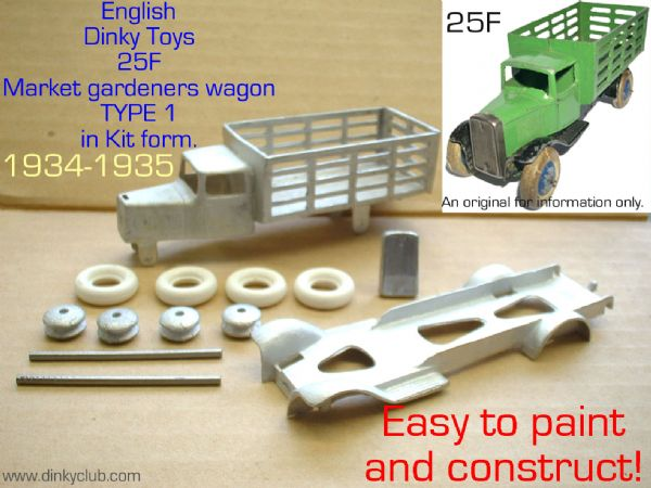 Dinky Toys copy model 25F Type 1 Market Gardeners truck in kit form
